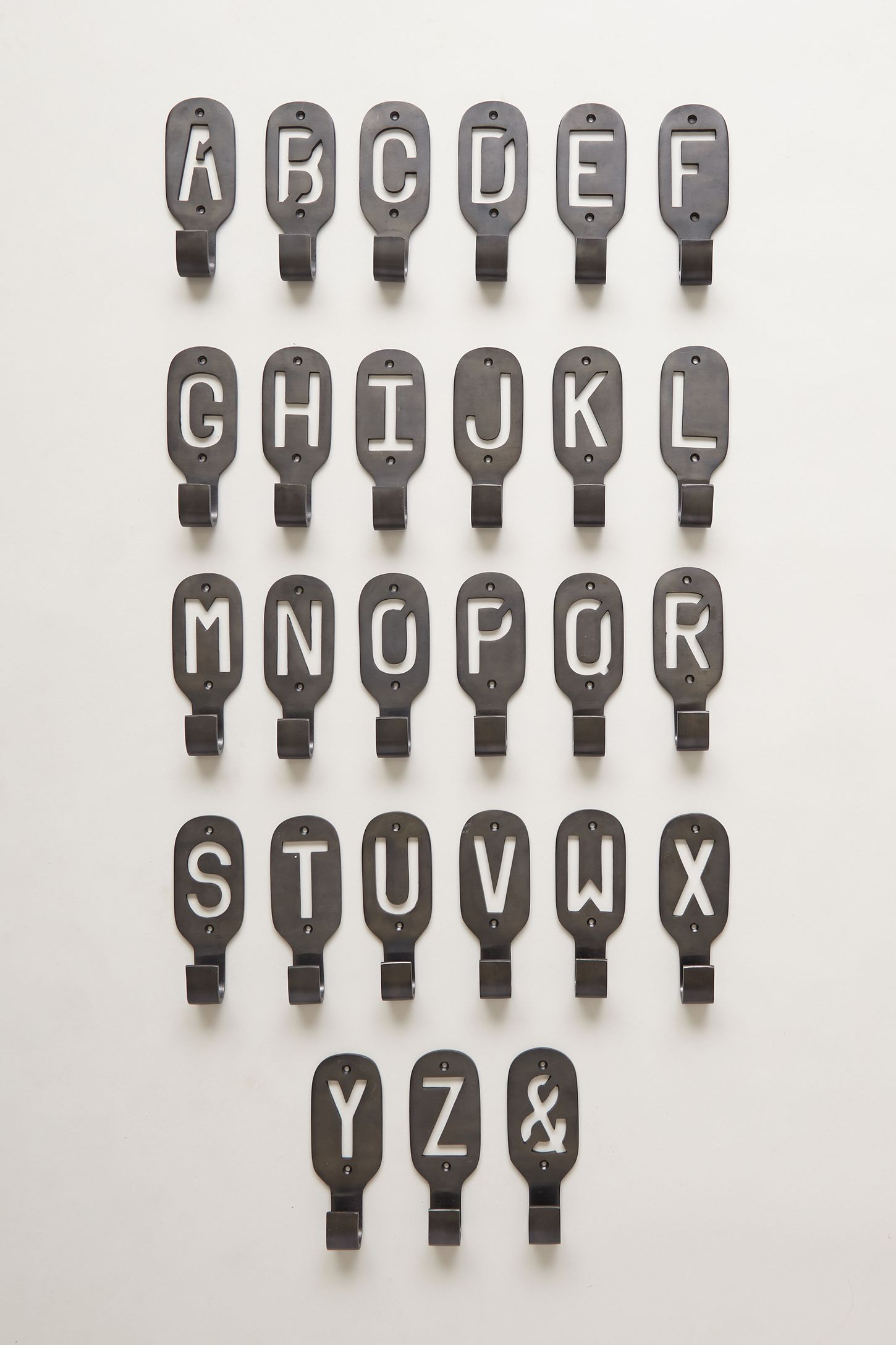 Metal Letter Hooks Cast Iron Monogram Hook Anthropologie