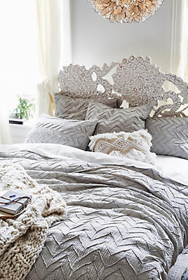 Slide View: 1: Textured Chevron Duvet