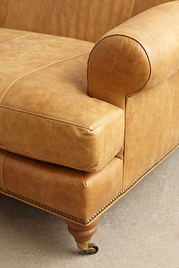 Slide View: 4: Leather Willoughby Sofa