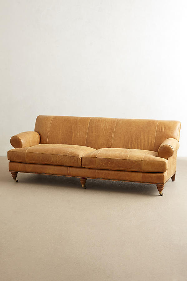 Slide View: 1: Leather Willoughby Sofa