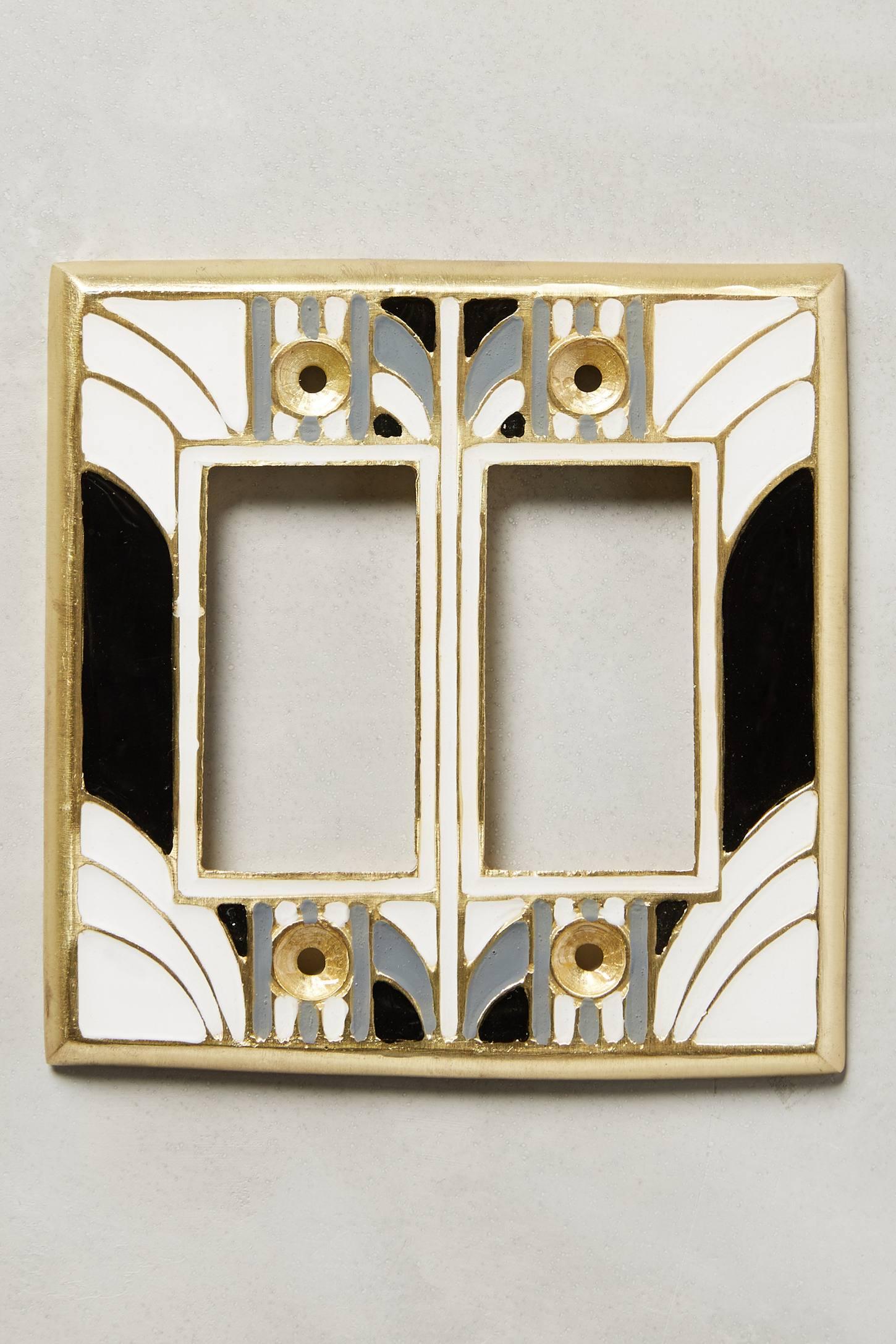 Decorative Light Switch Plates Retro Swirl Switch Plate Anthropologie