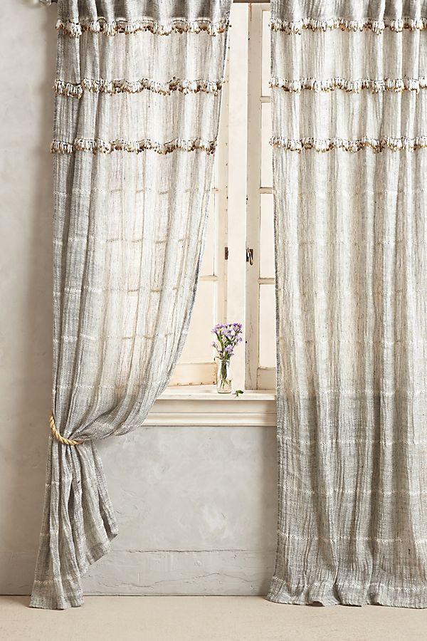 Slide View: 1: Graduated Tassel Curtain