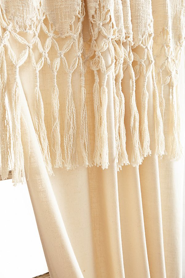 Slide View 3 Knotted Macrame Curtain