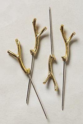 Slide View: 1: Branch & Twig Cocktail Picks, Set of 4