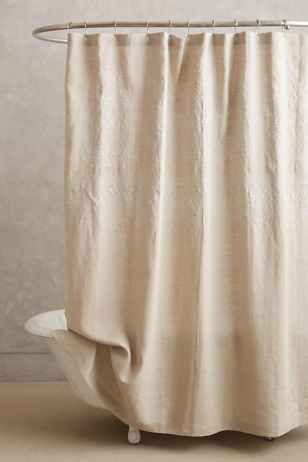 duschvorhang leinen my blog. Black Bedroom Furniture Sets. Home Design Ideas