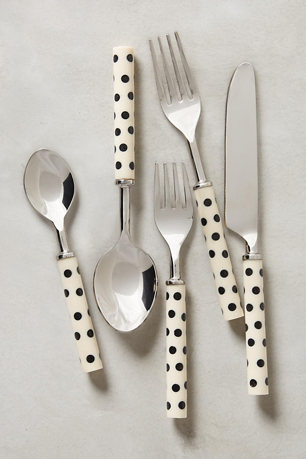 Slide View: 1: Crescendo Dot Flatware