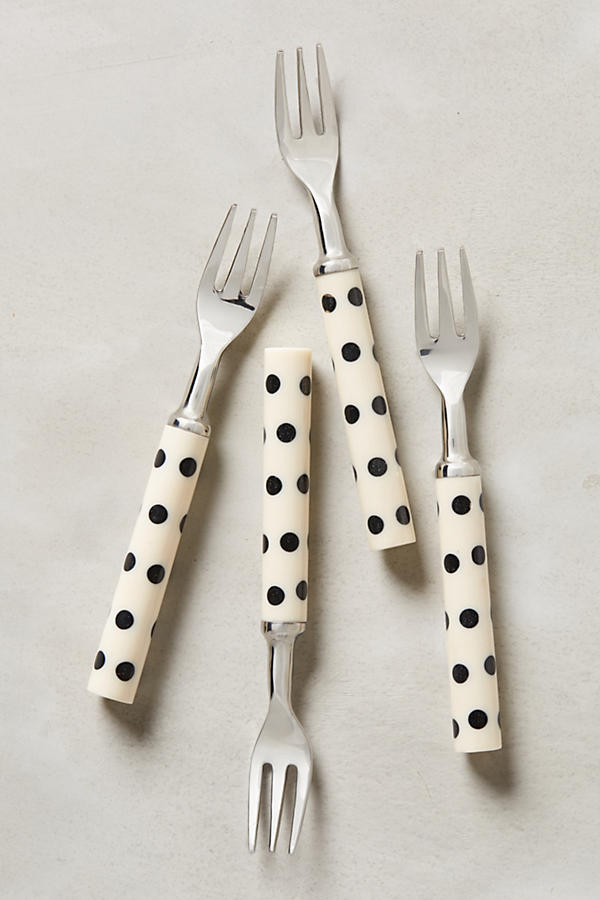 Slide View: 1: Crescendo Dot Dessert Forks