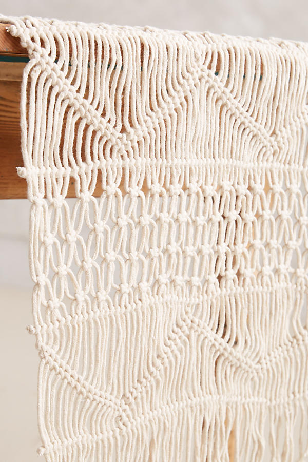 Slide View: 2: Handwoven Macrame Runner