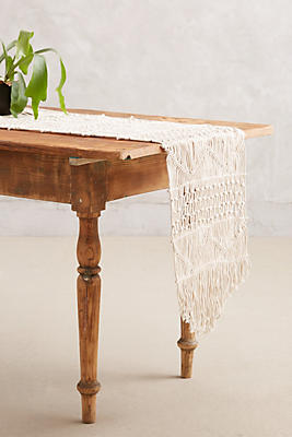 Slide View: 1: Handwoven Macrame Runner