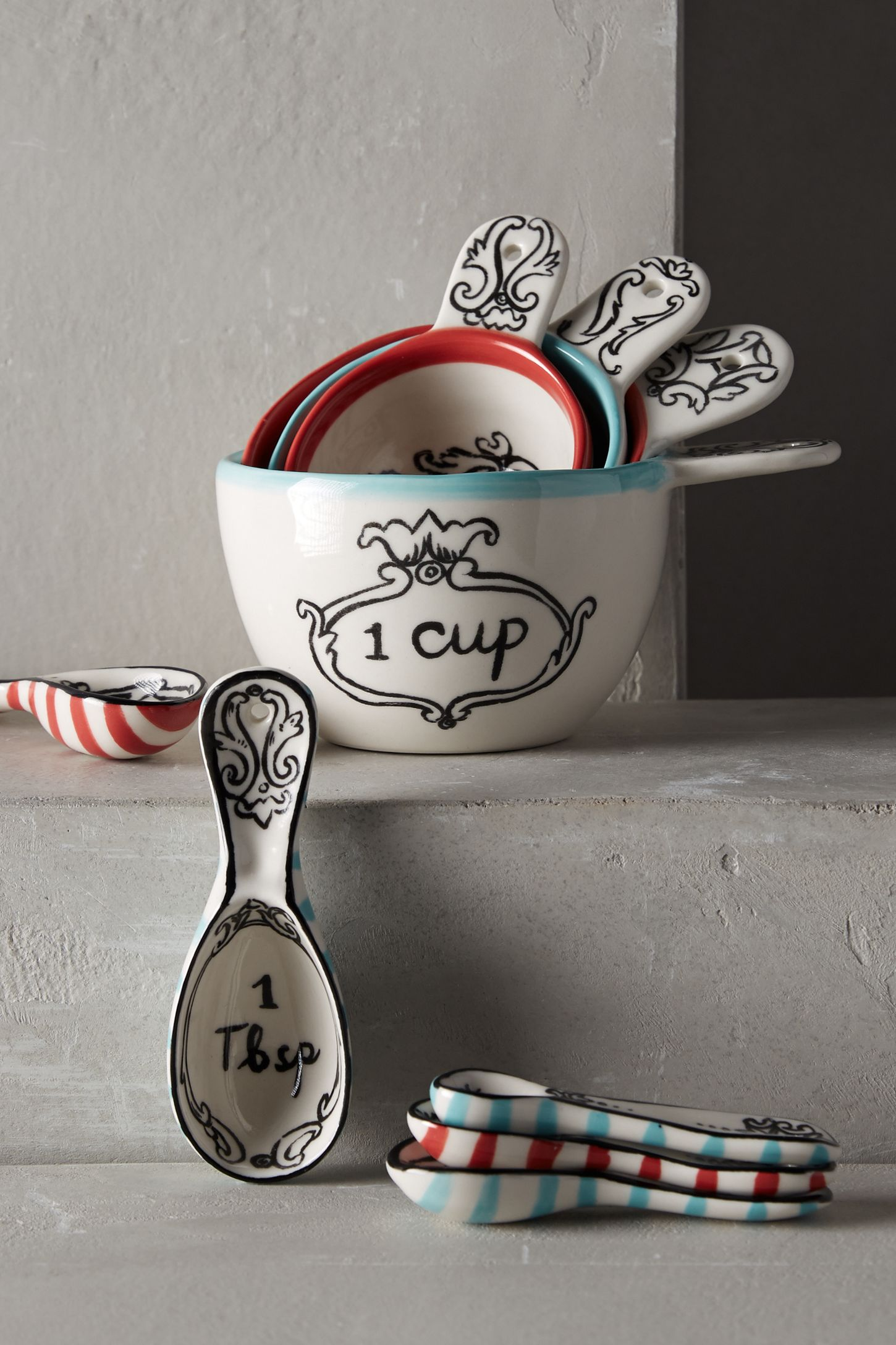 Decorative Measuring Spoons And Cups Crowned Leaf Measuring Cups Anthropologie