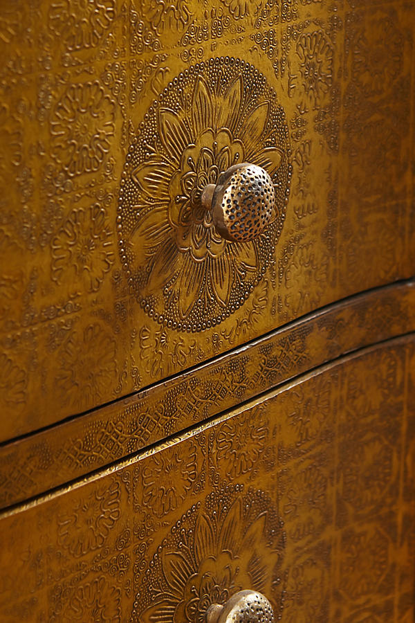 Slide View: 3: Hand-Embossed Five-Drawer Dresser