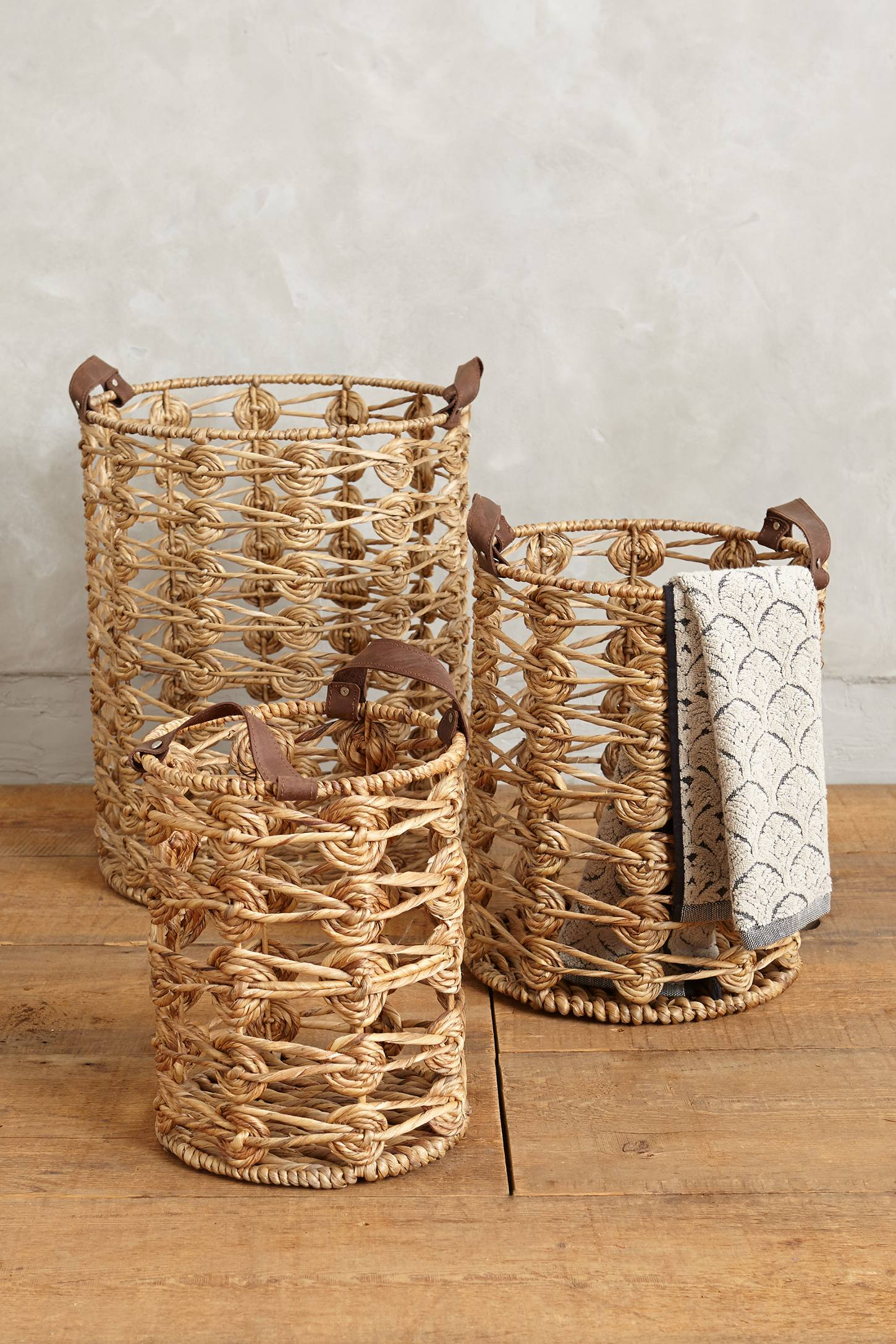 Spiral Weave Storage Baskets