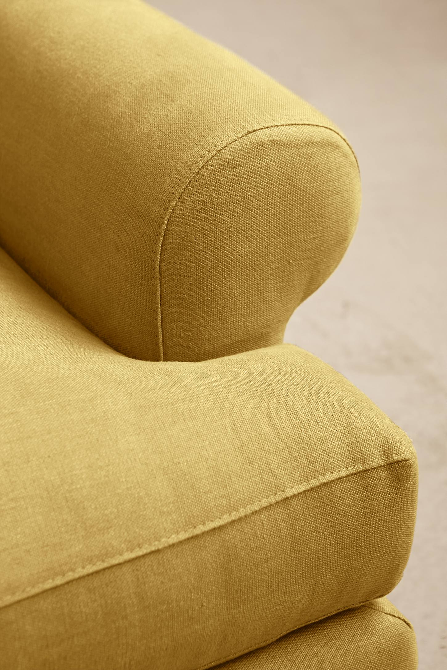 Slide View: 3: Linen Willoughby Sofa, Wilcox