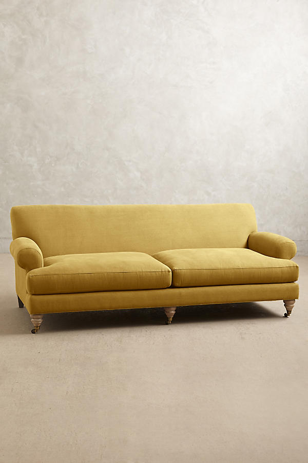 Slide View: 1: Linen Willoughby Sofa, Wilcox