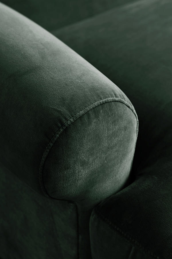 Slide View: 3: Velvet Willoughby Grand Sofa, Hickory