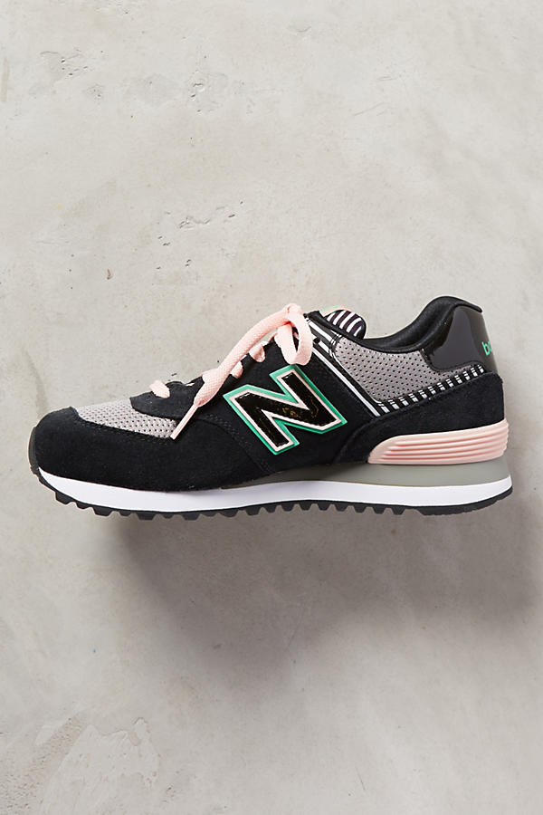 Slide View: 3: New Balance WL 574 Sneakers