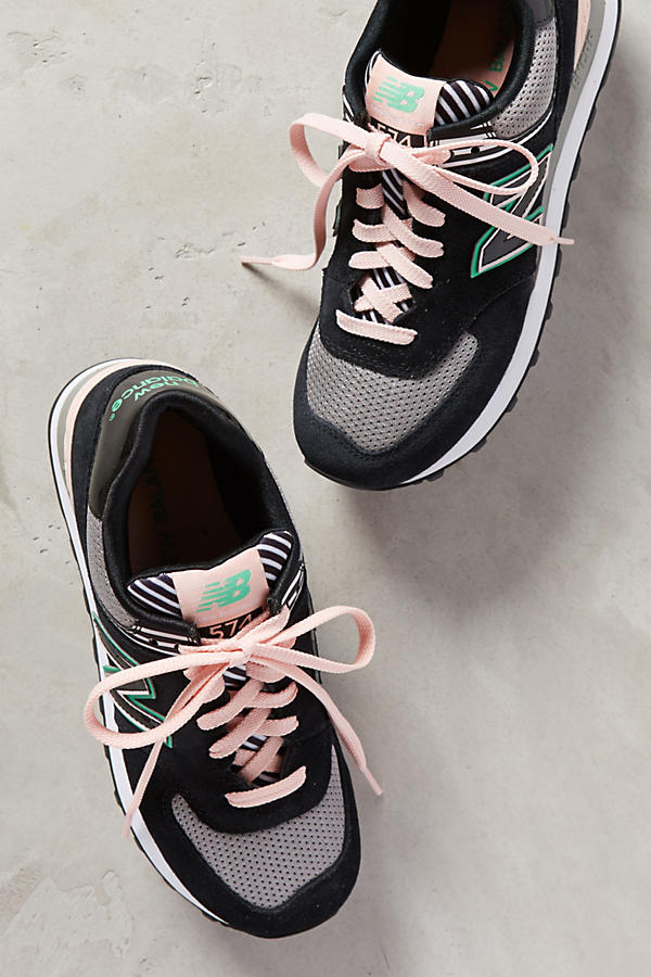 Slide View: 1: New Balance WL 574 Sneakers
