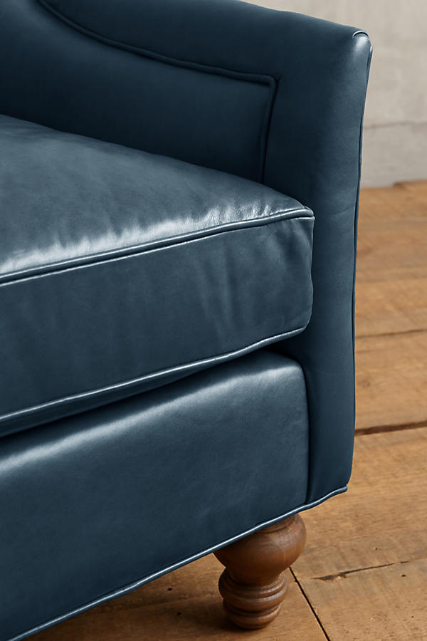 Slide View: 2: Premium Leather Holloway Settee