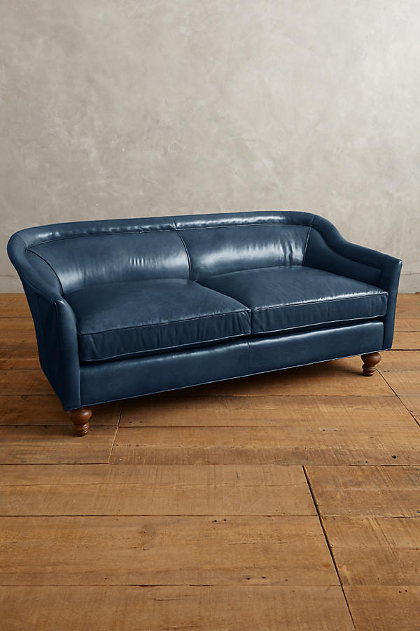 Slide View: 1: Premium Leather Holloway Settee