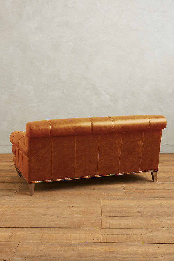 Slide View: 2: Leather Willoughby Settee