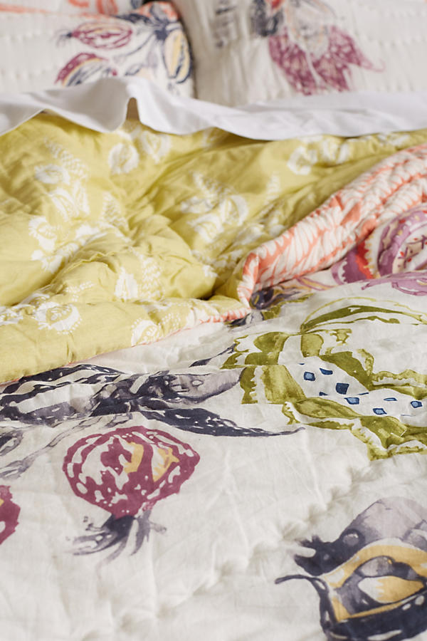 Slide View: 3: Woodblock Floral Quilt