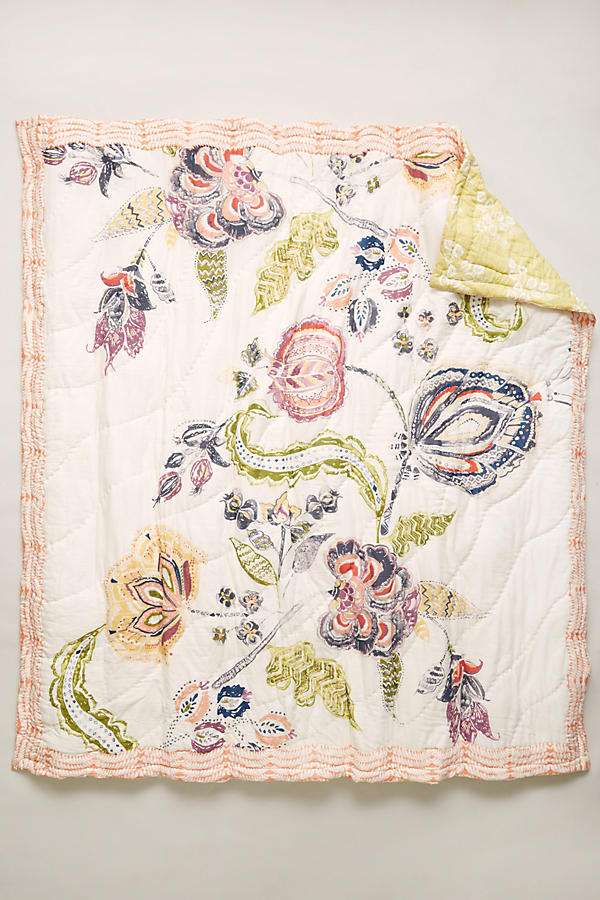 Slide View: 4: Woodblock Floral Quilt