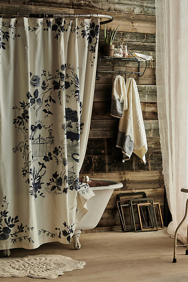 Kojani Sketch Shower Curtain | Anthropologie
