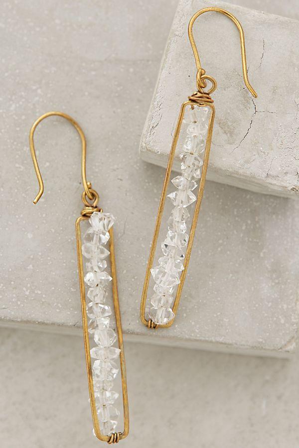 Herkimer Matchstick Earrings