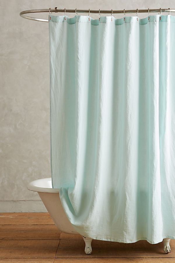Lago Linen Shower Curtain