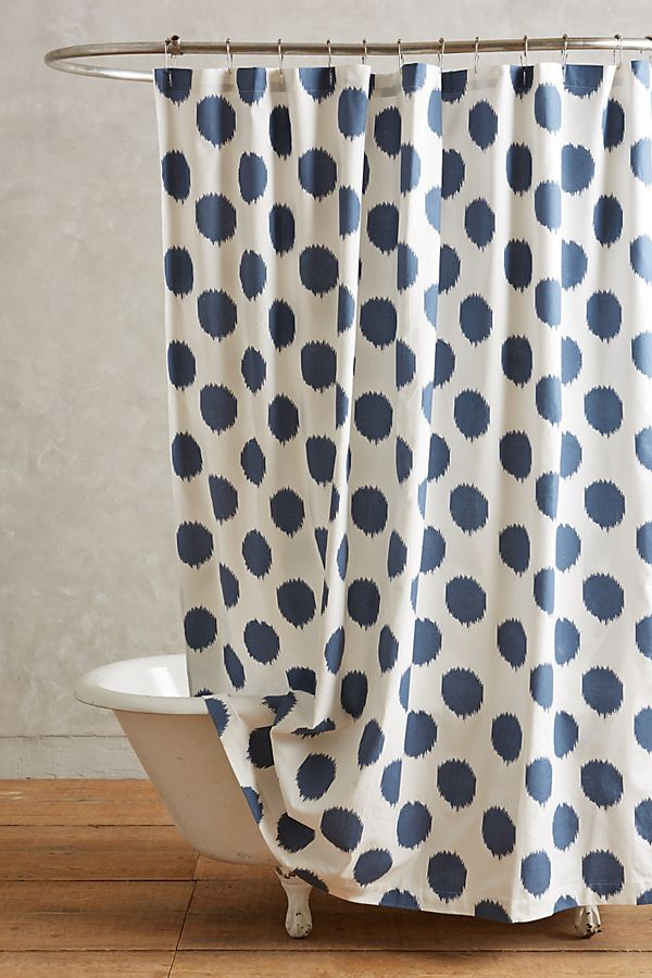 Ikat Dot Shower Curtain | Anthropologie