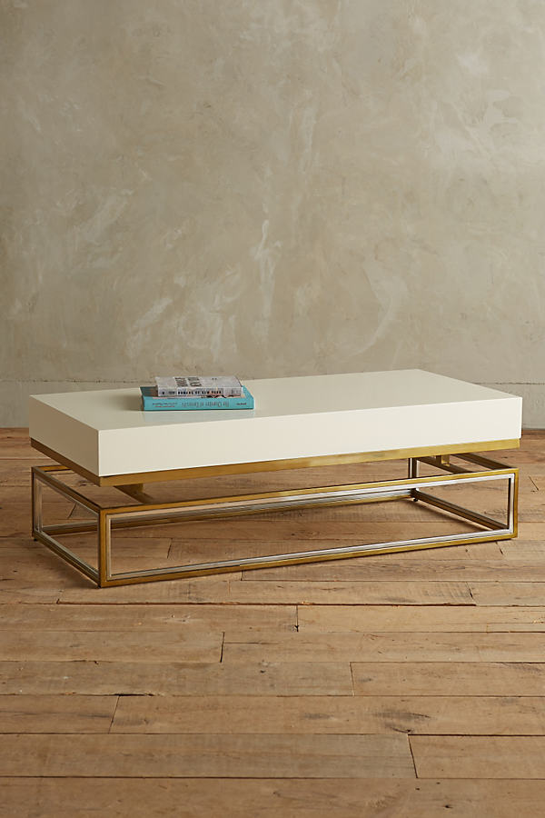 Lacquered Rectangular Coffee Table - Cream