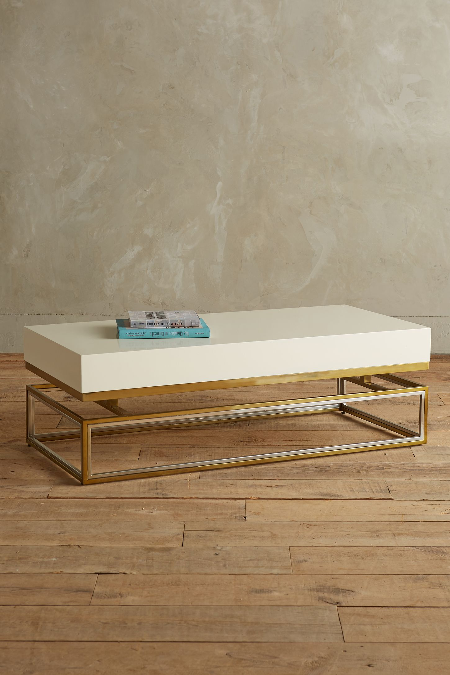 Lacquered rectangular coffee table anthropologie geotapseo Choice Image
