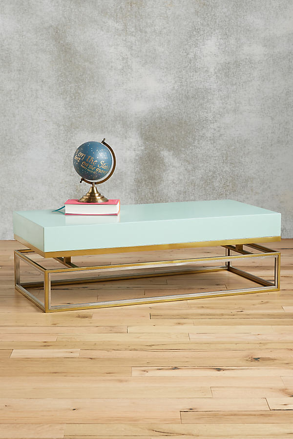 Lacquered Rectangular Coffee Table - Mint