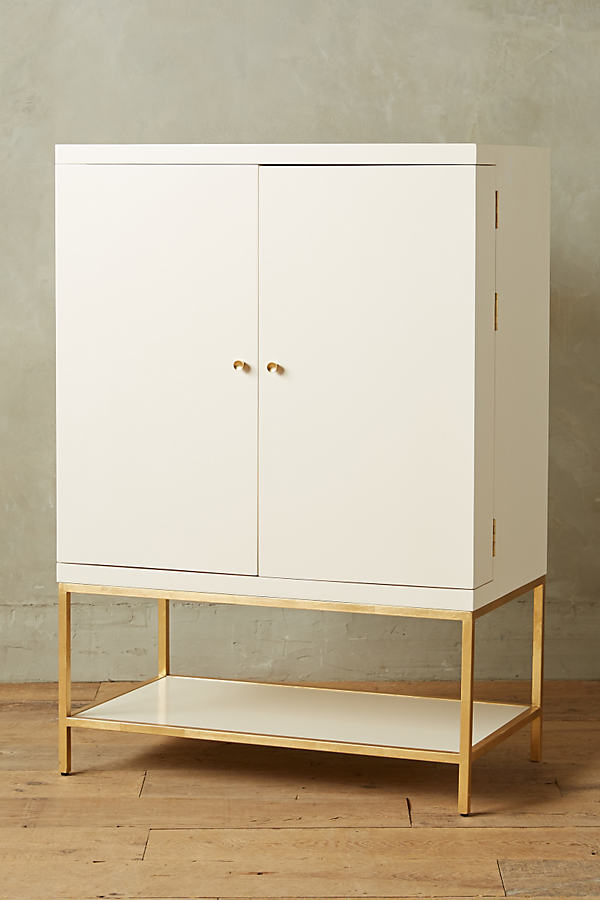 Lacquered Bar Cabinet - Cream