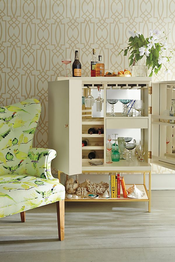 Slide View: 4: Lacquered Bar Cabinet