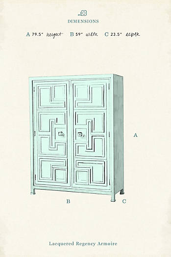 Slide View: 6: Lacquered Carre Armoire