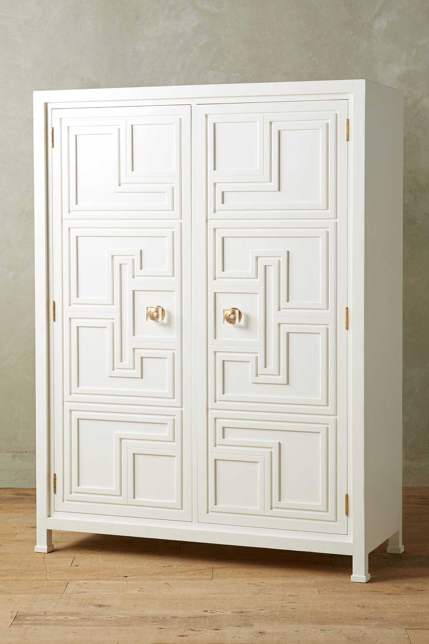 Lacquered regency armoire anthropologie - Armoire design blanche ...