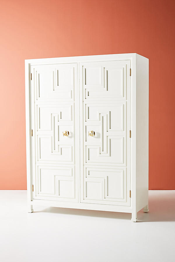 Slide View: 4: Lacquered Regency Armoire
