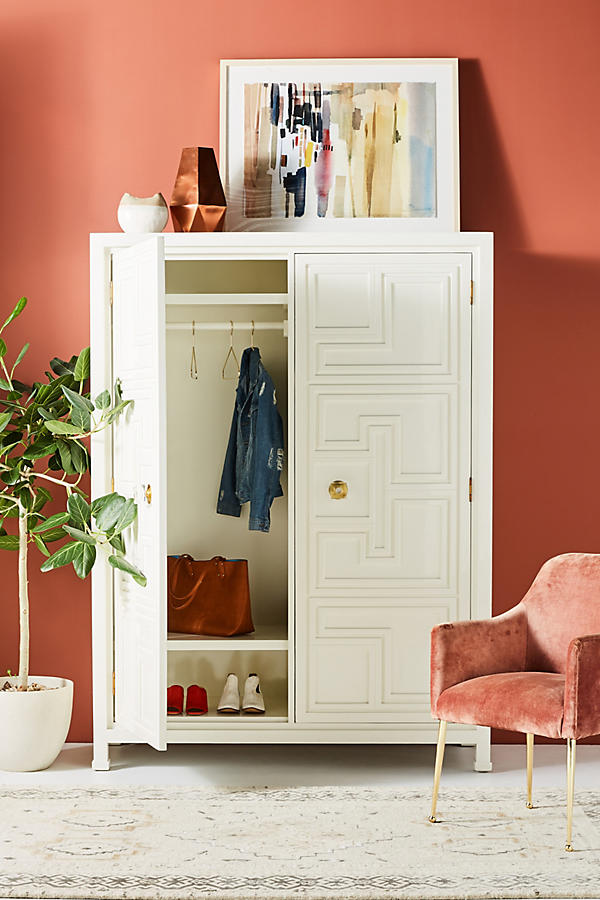 Slide View: 5: Lacquered Regency Armoire