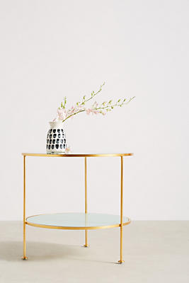 Lacquered Round Side Table
