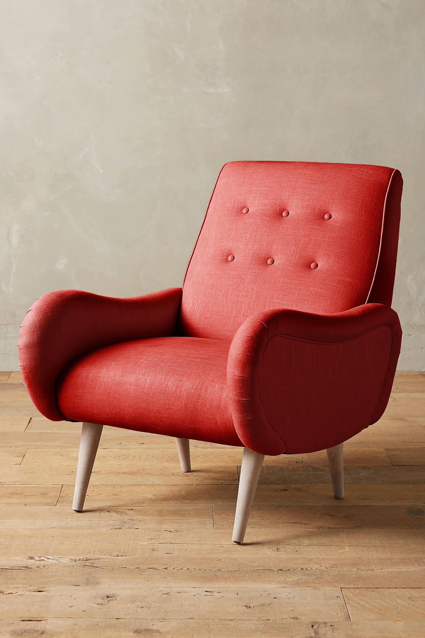 Linen Losange Chair
