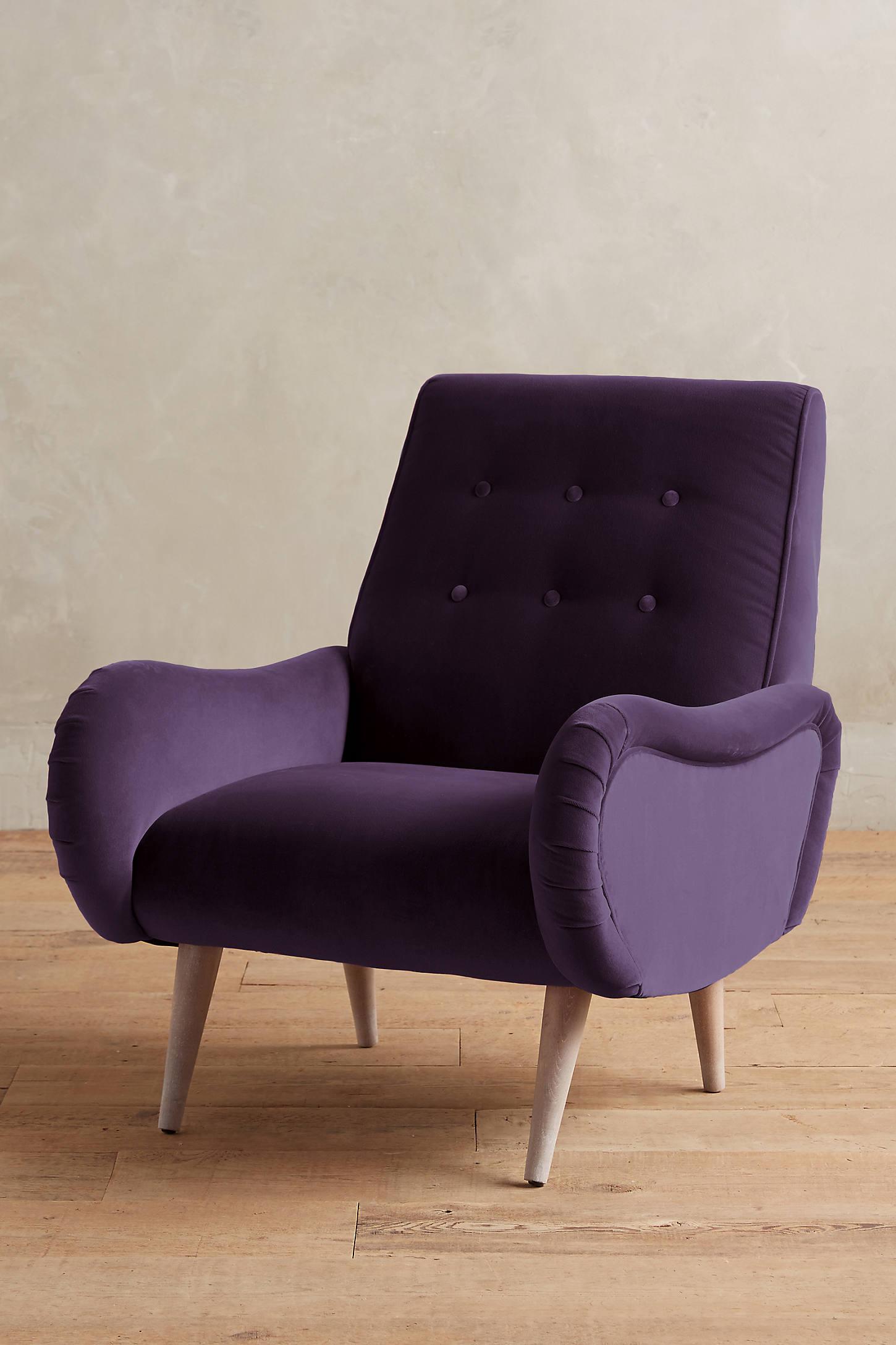 Velvet Losange Chair