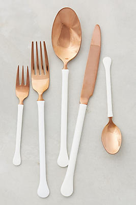 Slide View: 1: Copper Top Flatware