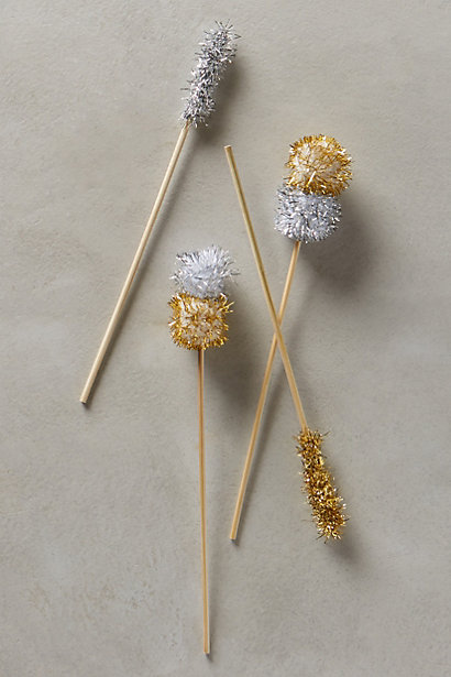 pom pom stir sticks