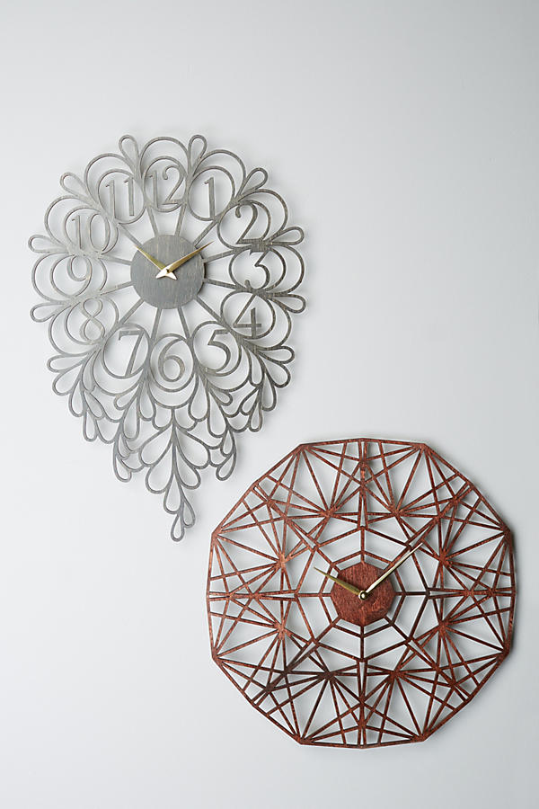 Slide View: 2: Gatehouse Wall Clock, Vines