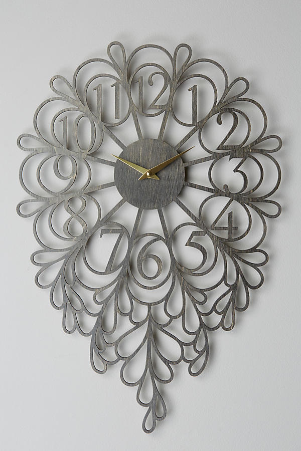 Slide View: 1: Gatehouse Wall Clock, Vines
