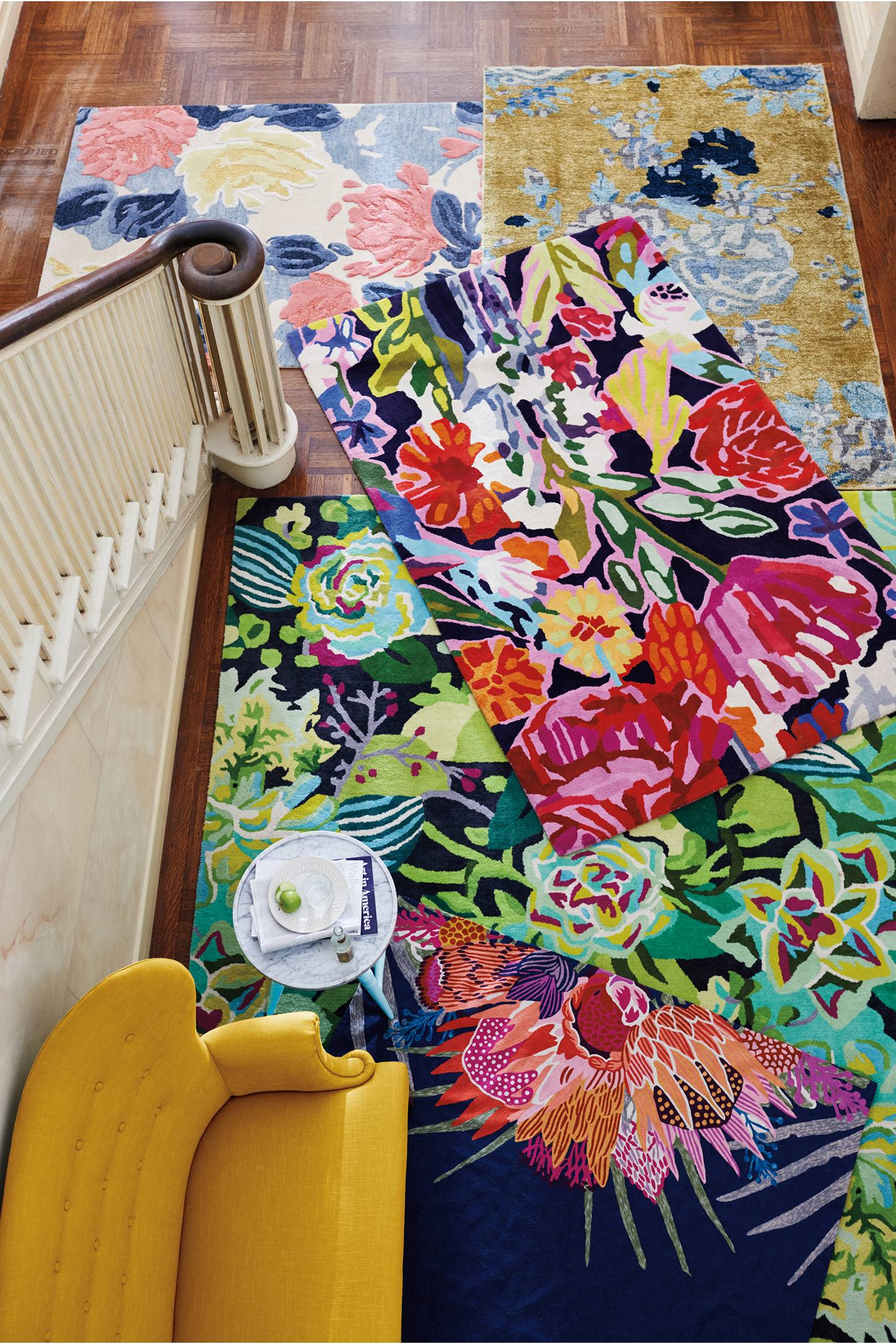 Slide View: 6: Rose Relief Rug