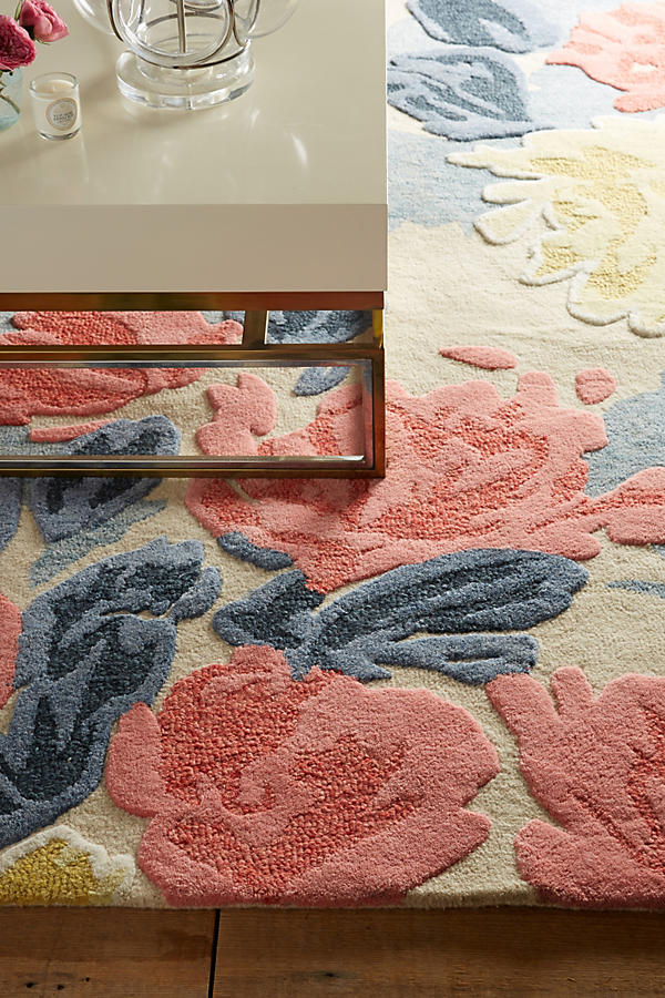 Slide View: 2: Rose Relief Rug