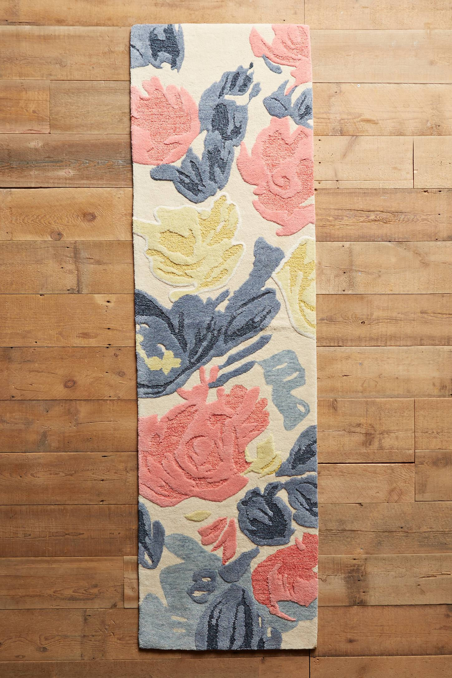 Slide View: 3: Rose Relief Rug