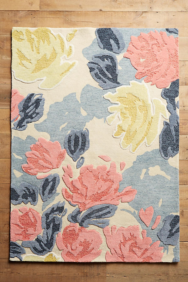 Slide View: 1: Rose Relief Rug